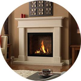 natural stone fireplace surround - Stone Fireplace Surround