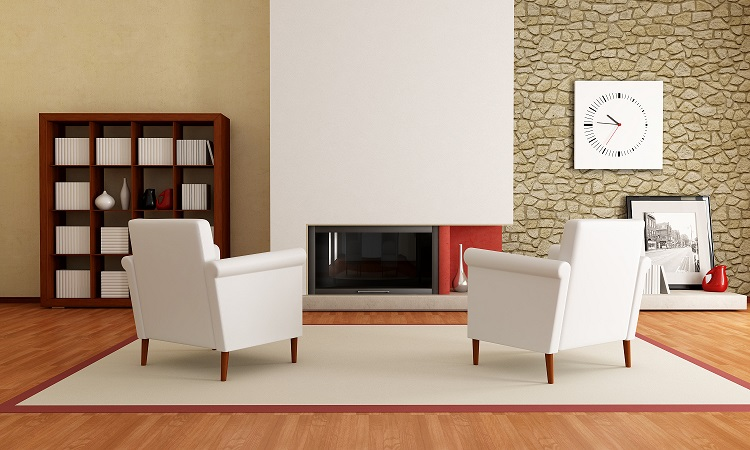 Modern minimalist fireplace design