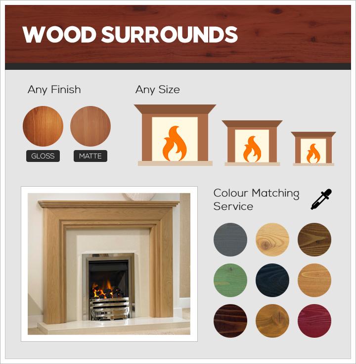 Wood surround bespoke fireplaces