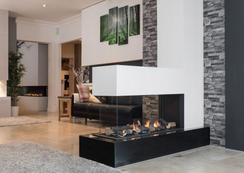 High-end tunnel fireplace