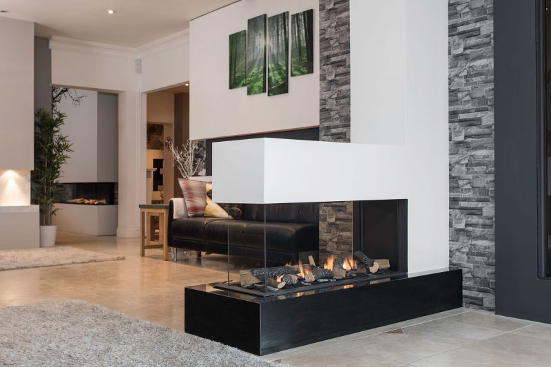 Stone And Marble Fireplace