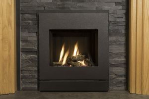 gas fire with slate surround