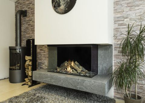 Maesto balanced flue fireplace